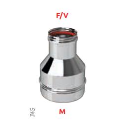 Réduction inox 130 M x 80 F